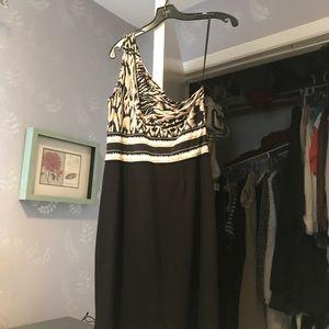 BCBG one shoulder dress.
